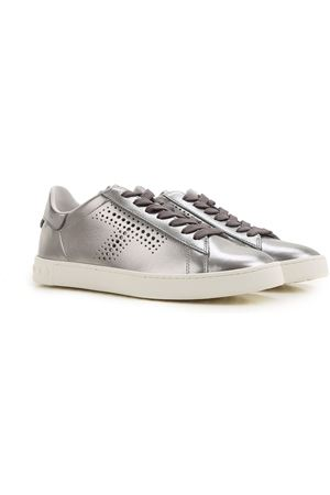 Metallic leather sneakers TOD