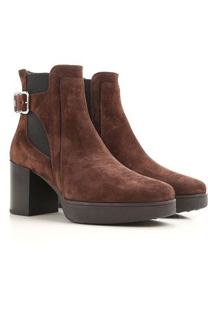 Heeled suede ankle boots TOD