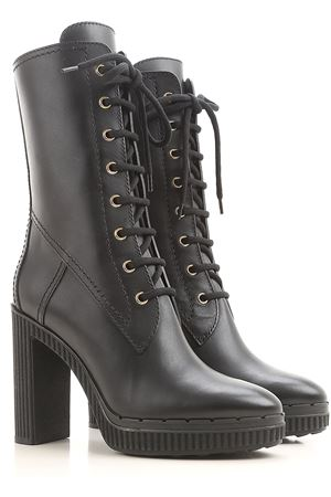 Lace-up leather boots TOD