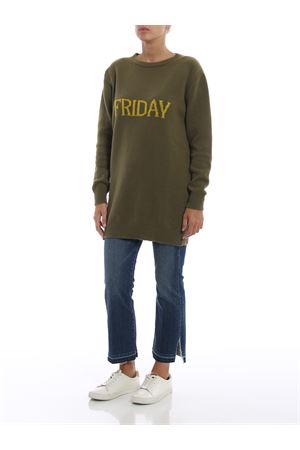 Friday green long crewneck sweater ALBERTA FERRETTI | 20000006 | 04856602J1427