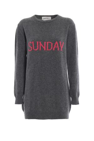 Sunday grey long crewneck sweater ALBERTA FERRETTI | 20000006 | 04856602J1506