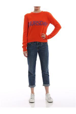 Thursday orange knitted crewneck ALBERTA FERRETTI   -108764232   09446602J1041