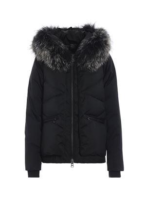 Hooded down jacket with fur trim COLMAR | 783955909 | 2206F3SU99
