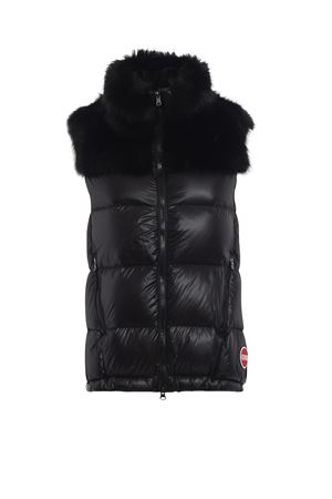 Fur quilted nylon padded vest COLMAR | 783955909 | 2217E3SL99