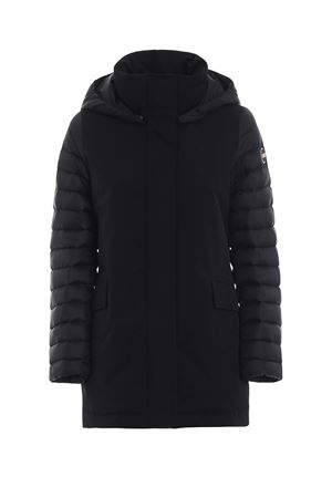 Down coat with quilted sleeves and hood COLMAR | 783955909 | 22516QY99