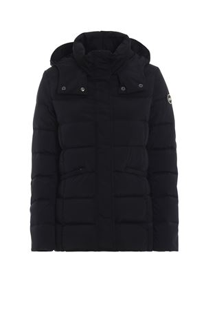 Hooded black puffer jacket in opaque nylon COLMAR | 783955909 | 22797SE99