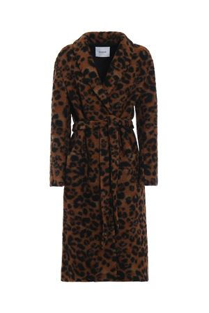 Animal print long coat DONDUP | 17 | DJ183WF0156XXXMD728