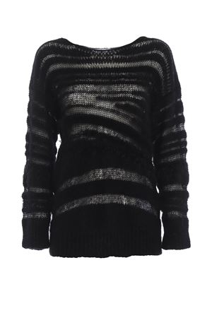 See-through mohair and wool black sweater DONDUP | 20000006 | DM203M00598002PDD999