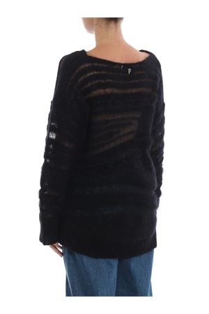 Maglione nero in mohair e lana a intarsi DM203M00598002PDD999 DONDUP | 20000006 | DM203M00598002PDD999