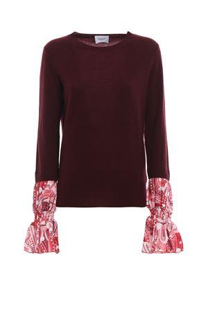 Printed cuff merino and cashmere sweater DONDUP | 20000006 | DM216M00543H72PDD547