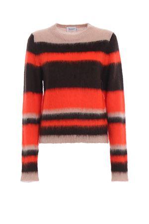 Colour block fluffy mohair blend sweater DONDUP | 20000006 | DM228M00606GRZPDD126R