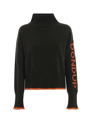 Pullover with contrasting logo knit DONDUP | 10000016 | DM244M00615Q83MD633