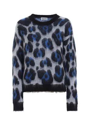 Animal print jacquard mohair blend sweater DONDUP | 20000006 | DM257M00623002MD000