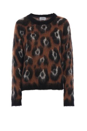 Maglione in misto mohair animalier jacquard DONDUP | 20000006 | DM257M00623002MD728
