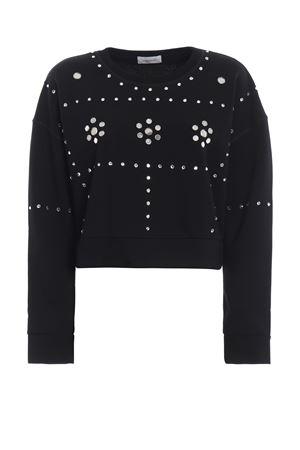 Rhinestone mirror embellished crop sweatshirt DONDUP | -108764232 | F149KF0163Q70PDD999