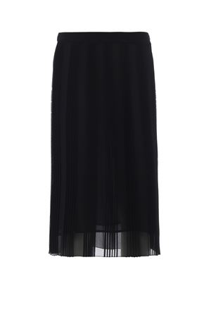 Black pleated georgette skirt DONDUP | 15 | G386OF0161XXXPDD999