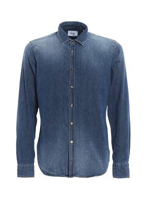 New Neck garment dyed denim shirt DONDUP | 6 | UC198DF0126Q66DU800