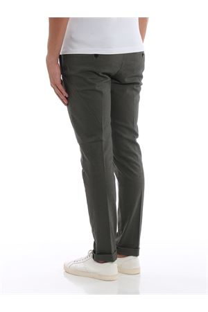 Pantaloni Gaubert in cotone oliva con motivo UP235AS0042PTDDU633 DONDUP | 20000005 | UP235AS0042PTDDU633
