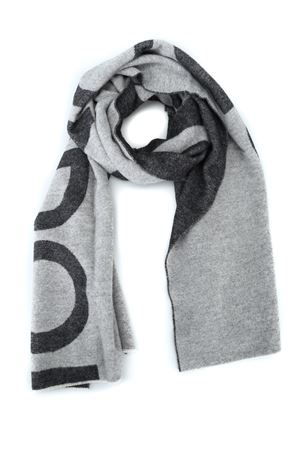Two tone wool blend logo lettering maxi scarf DONDUP | 77 | WK219Y00614XXXPDD902