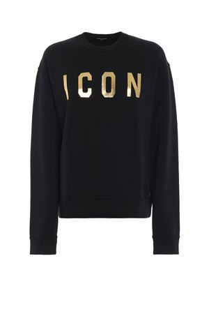 Icon black sweatshirt DSQUARED2   -108764232   S75GU0174S25030987
