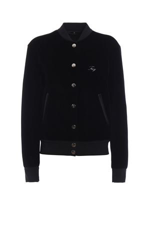 Black bomber jacket with logo FAY | 1236091882 | NAW11373190PZIB999