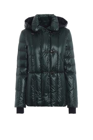 Green padded jacket with removable hood FAY | 783955909 | NAW32373690PVZ0G57