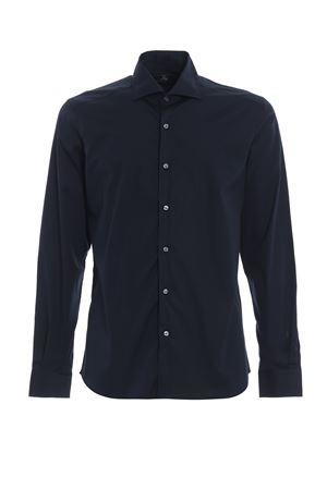 Blue stretch cotton poplin shirt FAY | 6 | NCMA137259SORMU807