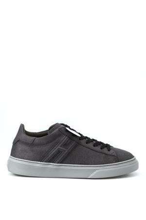 H365 elongated H leather grey sneakers HOGAN | 120000001 | HXM3650J310GZXB612