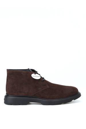 H393 Derby suede desert boots HOGAN | 120000001 | HXM3930W352JCG1117