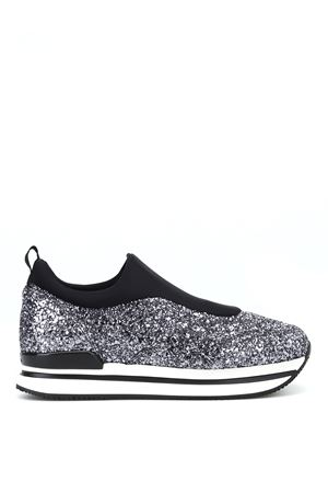 Slip-on H222 in scuba e glitter brillante HXW2220AR40JTV4361 HOGAN | 5032246 | HXW2220AR40JTV4361