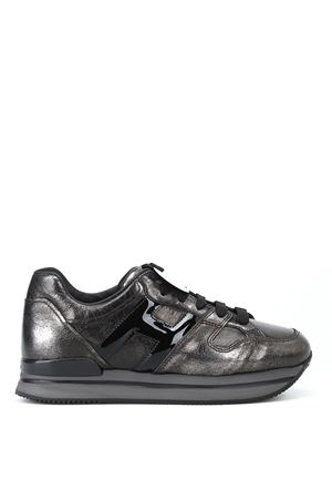 H222 metallic leather lace-up sneakers HOGAN | 120000001 | HXW2220T548JD81642