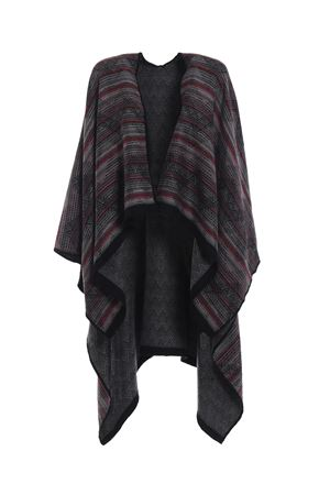 Native American inspired wool jacquard poncho M MISSONI | 52 | MANTWOD66250004