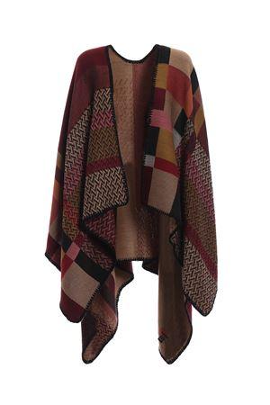 Blanket style patchwork wool poncho M MISSONI | 52 | MANTWOD67590001
