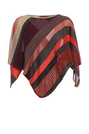 Glittering striped poncho style shawl M MISSONI   40000002   POI1PMD66820001