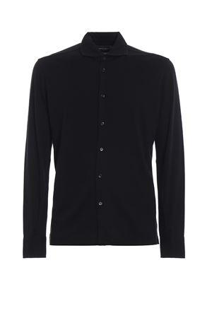 Navy blue cotton jersey long sleeve shirt MAJESTIC | 6 | J509HCH006002