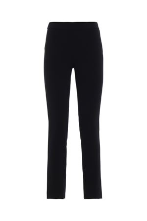 Black crepe trousers MOSCHINO | 20000005 | 03075424A0555