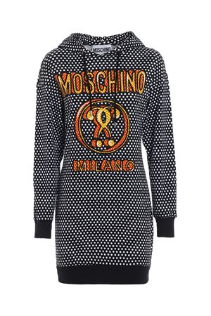 Polka dot logo print sweatshirt dress MOSCHINO | 11 | 04355426A2555