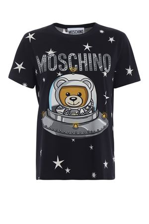 Space teddy bear Moschino black T-shirt MOSCHINO | 8 | 07055440A1555