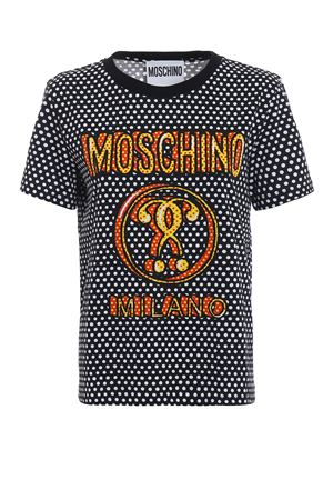 T-shirt a pois con logo stampato MOSCHINO | 8 | 07105440A2555