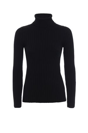 Virgin wool ribbed turtleneck MOSCHINO | 5032269 | 09175400A0555