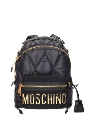 Zaino in nylon con maxi logo applicato MOSCHINO | 10000008 | 76058207B1555