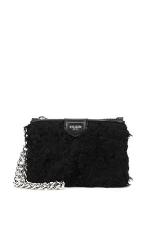 Black shearling clutch MOSCHINO | 10000014 | 84448213A3555
