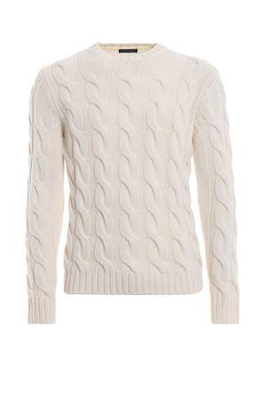 Pull bianco a trecce in lana merino PAOLO FIORILLO CAPRI | 20000006 | 630701002