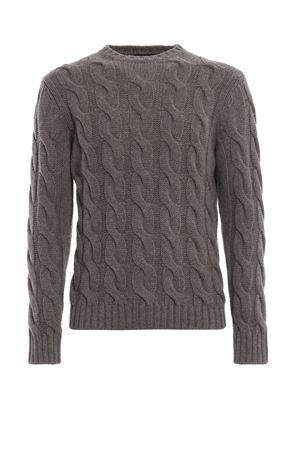 Cable knit stone grey wool sweater PAOLO FIORILLO CAPRI | 20000006 | 630701133