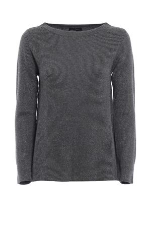 Grey crew neck sweater with lurex detail PAOLO FIORILLO CAPRI | 7 | 65171330