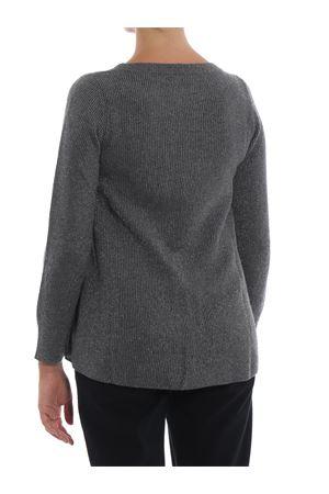 Grey crew neck sweater with lurex detail