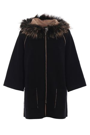 Fur detail hooded cardigan PAOLO FIORILLO CAPRI | 52 | 65259713