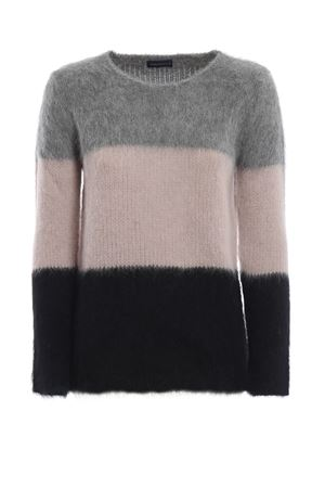 Colour block fluffy alpaca blend sweater PAOLO FIORILLO CAPRI | 7 | 68150113