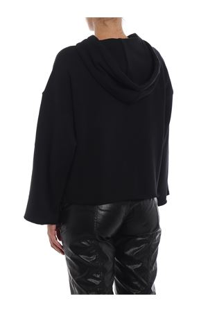 Velvet detailed boxy hoodie PHILOSOPHY di LORENZO SERAFINI | -108764232 | 17065747A0555