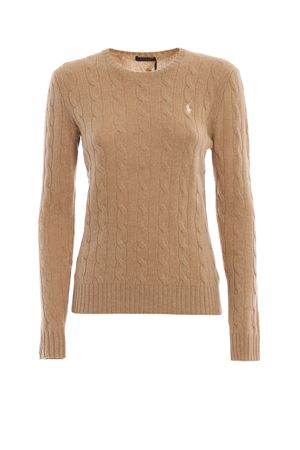 Camel cable knit merino and cashmere sweater POLO RALPH LAUREN | 1 | 211525764045